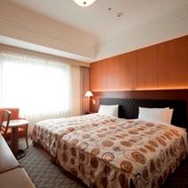 ベッドを2つならべたハリウッドツインルーム