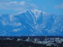 上層階から一望できる山脈