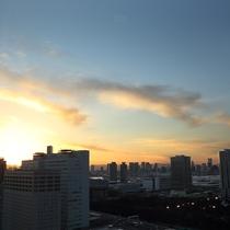 部屋からの眺望の一例 夕景