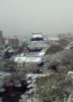 冬景色の岡崎城