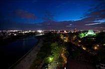 岡崎城を見渡す夜景