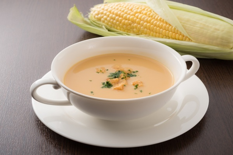 大人気のコーンスープ ディナーブッフェにて