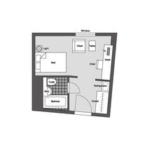 東館セミダブル 平面図