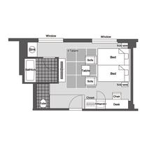 東館和洋室 平面図