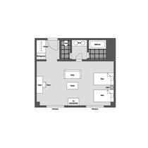 東館エグゼクティブツイン 平面図