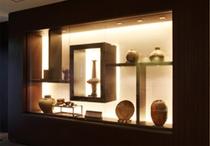 備前焼を中心としたコレクション。各階にて展示。
