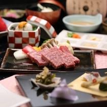 神戸牛ステーキ付の12品~神戸牛ステーキ会席