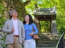 緑豊かな風景を楽しみながらの散策