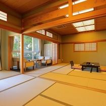 山荘2F特別室は純和風のゆったり和室