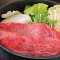 きれいなサシの入った特選牛肉