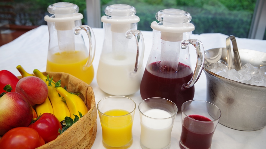 ●朝食バイキング会場● ジュース