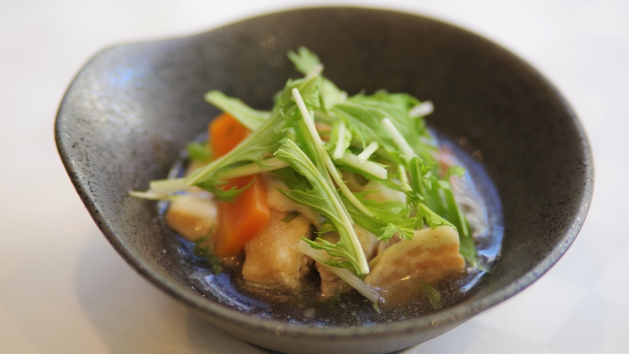 ●関西郷土料理● 豚肉と水菜のハリハリ煮
