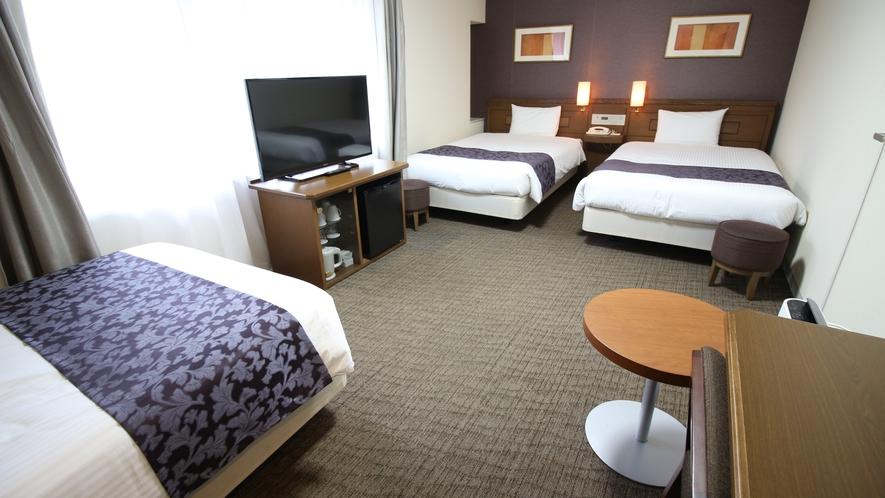 ●デラックスツインルーム● 30平米 ベッド3台最大5名様まで利用可