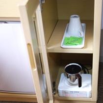 お茶と電磁サーバー/客室設備