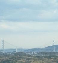 客室から見える明石大橋