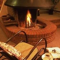 暖炉の風景