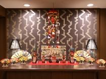 ロビー 飾り 祇園祭り