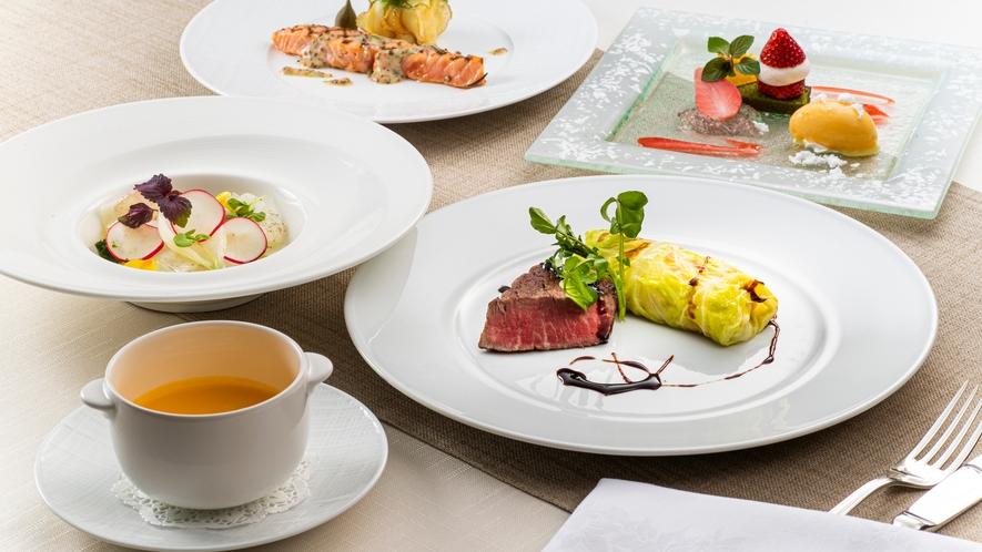 洋食ディナーコース 一例 春