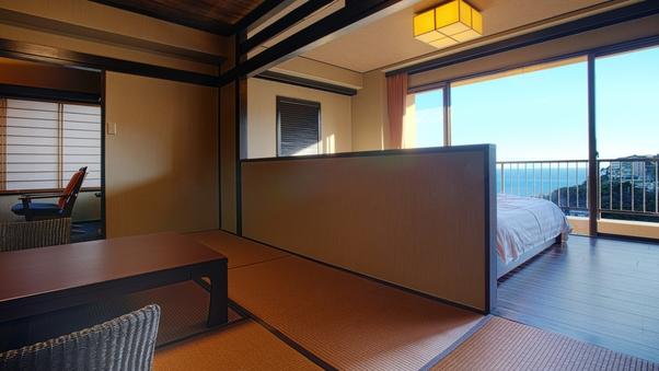 【禁煙】海眺め和洋室 海一望ベットルーム付き(2ベッド)