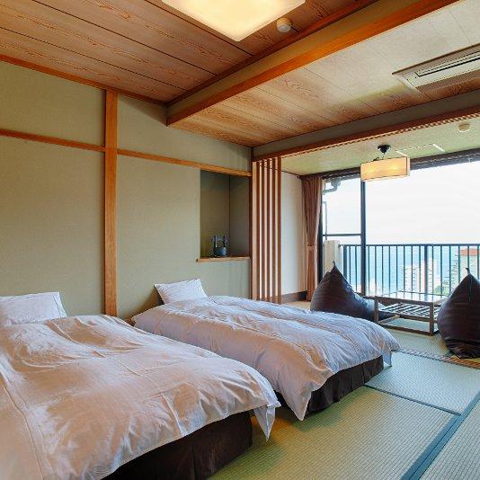 【海が見える露天風呂付き客室】アクアライトバスの客室