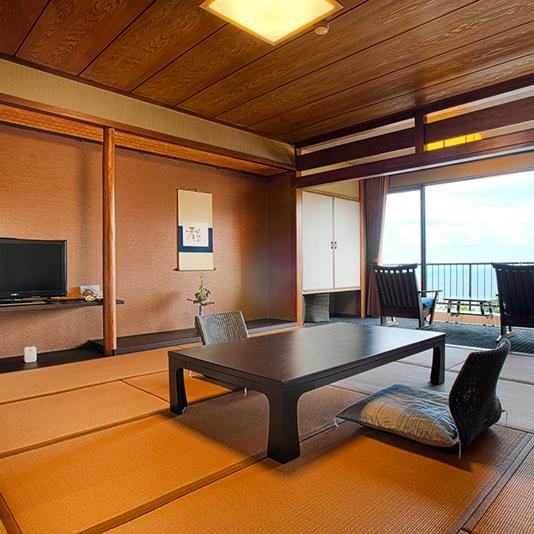 【禁煙】海眺め和室「内装や畳を一新、シックで落ち着いた和室に仕上げました」2017年7月