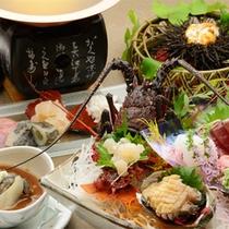 伊豆3大食材(伊勢海老、鮑、金目鯛)と下田産「すっぽん」を余すことなくご堪能ください