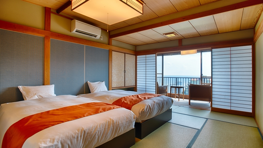 露天風呂付き客室-檜の湯舟コナールーム(客室)
