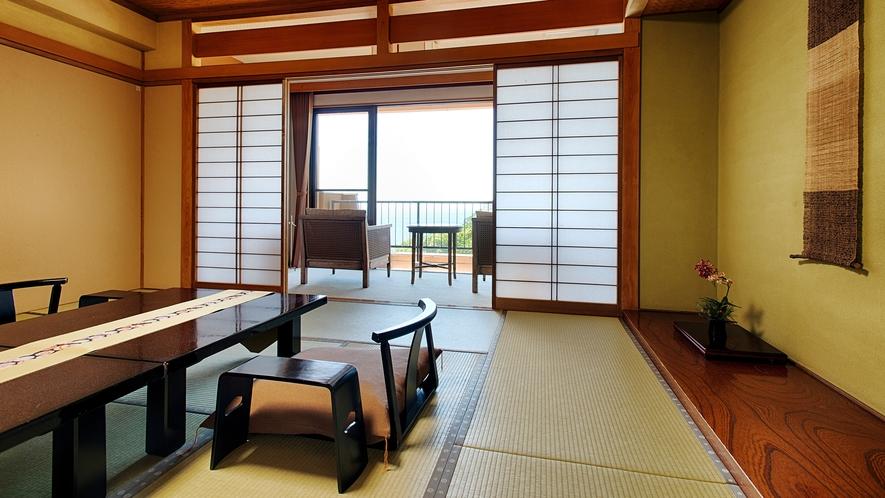 露天風呂付き客室-檜の湯舟(本間)