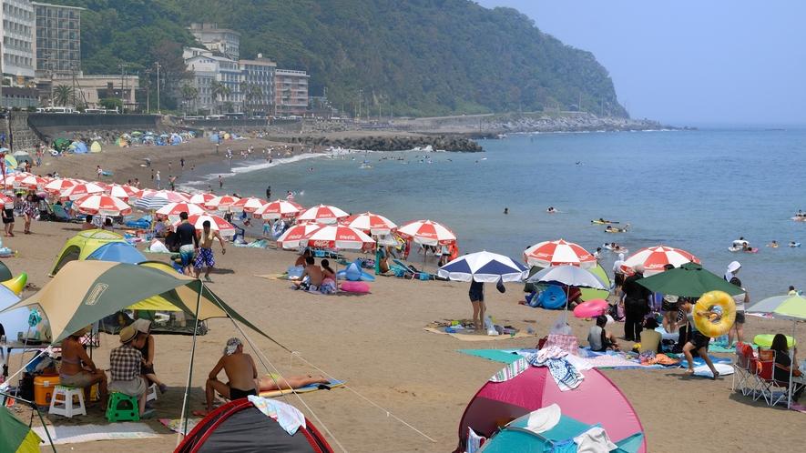 【海水浴場】今年の夏は、熱川YOU湯ビーチで遊ぶ!(無料送迎バスあり♪水着のままで海まで楽々!)
