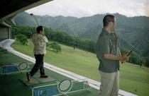 ペンション村内のゴルフ場