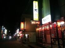 繁華街まで徒歩5分。田名部神社周辺。