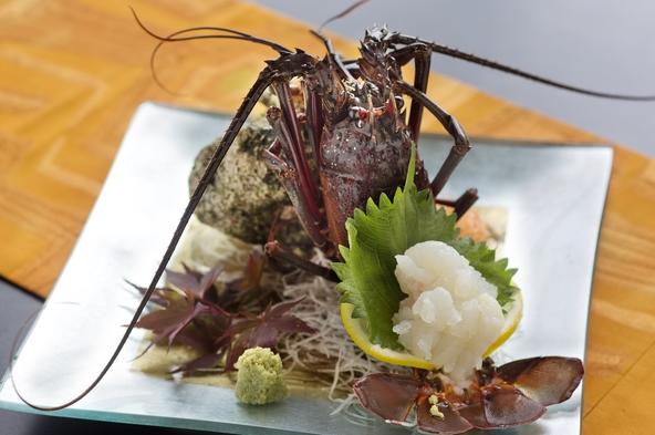 【海の2大競宴-お部屋食】<房州海老×アワビ>「どちらも欲張りに♪」を実現≪夕・朝お部屋食≫