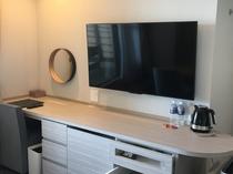 新館のお部屋のテレビ
