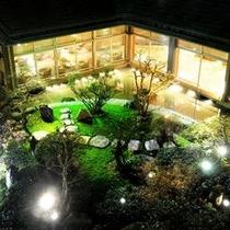 南館客室からの中庭