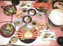日本海の幸鍋とズワイ蟹&笹寿司