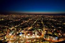 ホテル西側の夜景