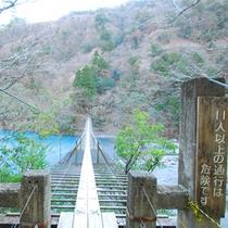 *寸又峡プロムナードコース(夢のつり橋)