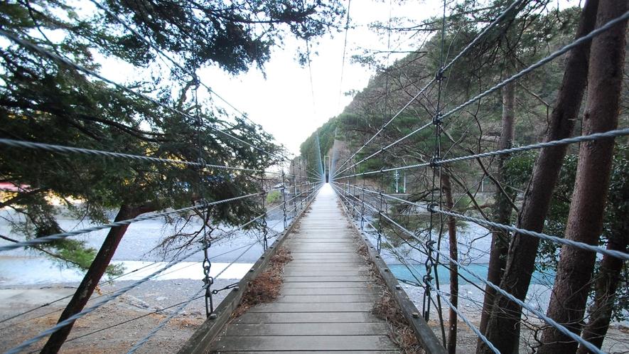 *川根両国つり橋/安心してゆっくり景色を楽しみたい方におすすめのつり橋。