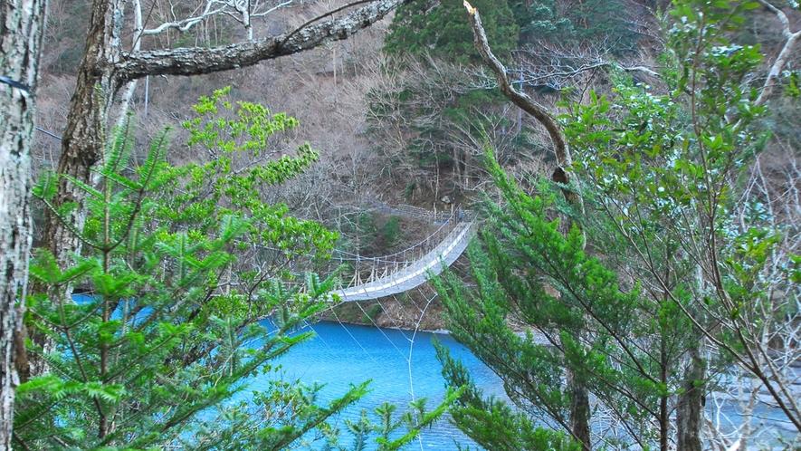 *寸又峡プロムナードコース/「世界の徒歩吊橋10」に選ばれました。