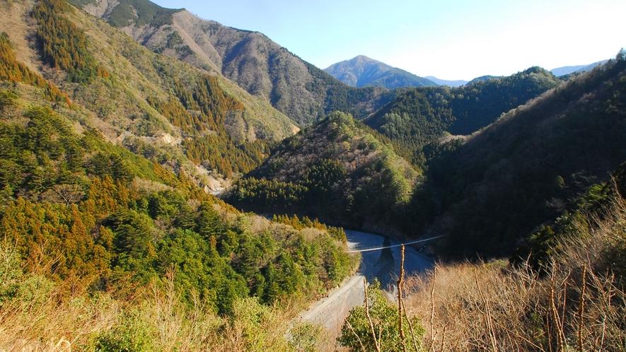 *寸又峡プロムナードコース/渓谷の大自然を楽しむことができます。
