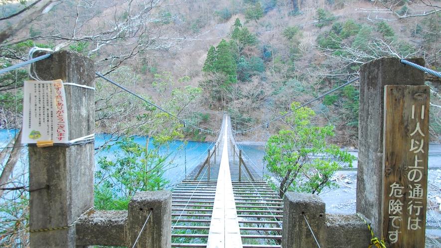 *寸又峡プロムナードコース/寸又峡を一躍有名にした「夢のつり橋」
