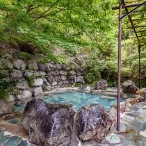 *露天風呂/「名湯百選」にも選ばれた天然温泉の湯。