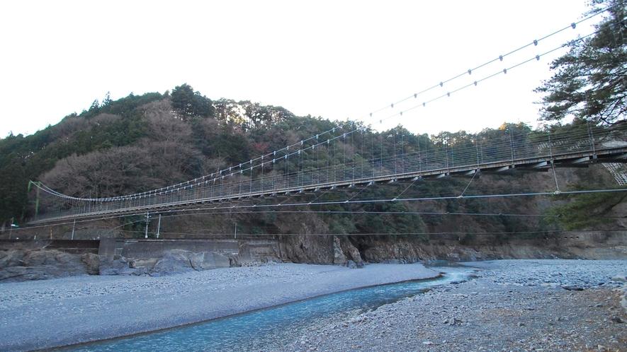 *川根両国つり橋/ほとんど揺れないので吊橋初心者におすすめです♪