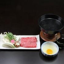 調理長おまかせ料理(熊野牛のすき焼き付)プラン