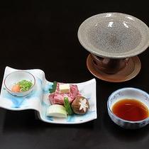 調理長おまかせ料理(熊野牛のミニステーキ付)プラン
