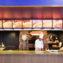 ライザレストラン ピザコーナー ピザが焼きあがる香ばしい匂いのピザコーナー