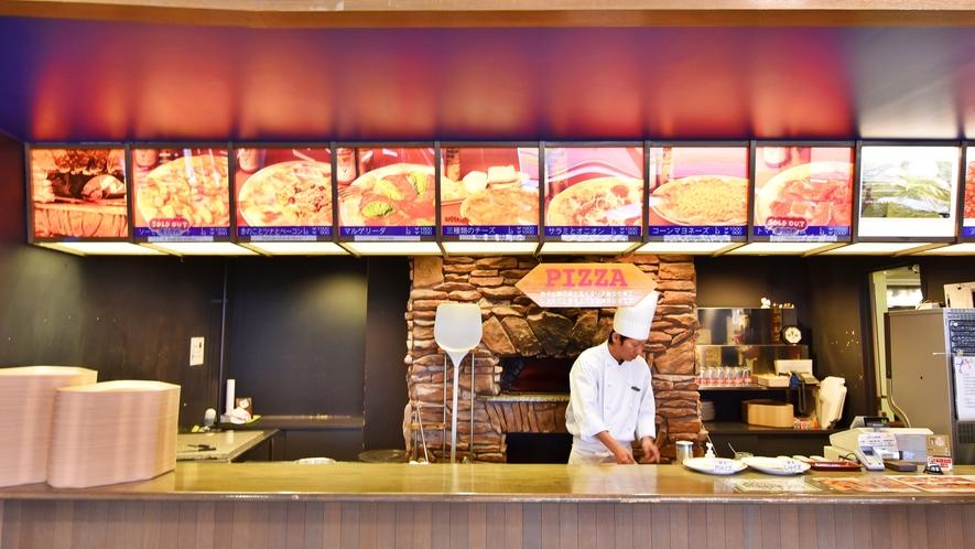 *ライザレストラン ピザコーナー ピザが焼きあがる香ばしい匂いのピザコーナー