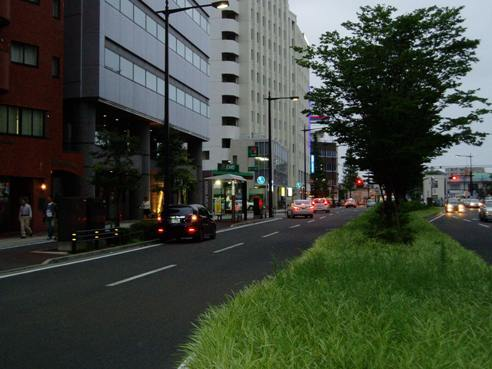 45号線交差点 ホテルより信号一つ手前よりの景観