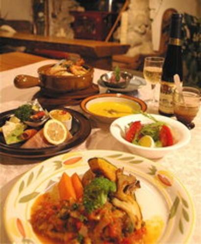 秋のコースディナー
