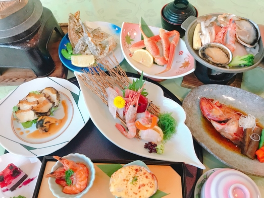 【夏旅セール】【贅沢☆旬の海鮮おまかせグレードアップ】あわびソテー・きんき煮魚・さざえ焼と近海磯料理